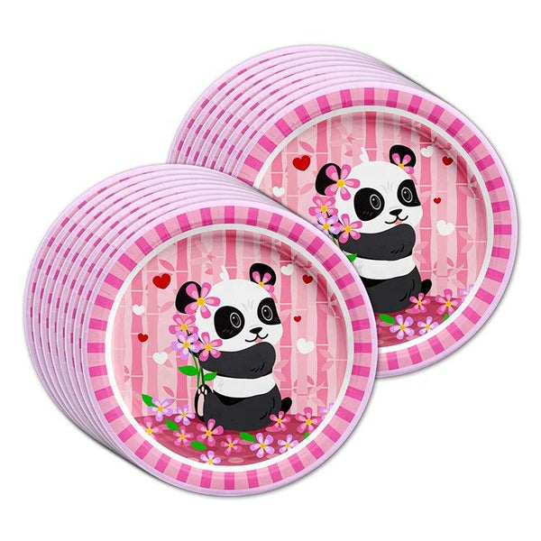 Panda Theme Birthday Party Cutlery Package