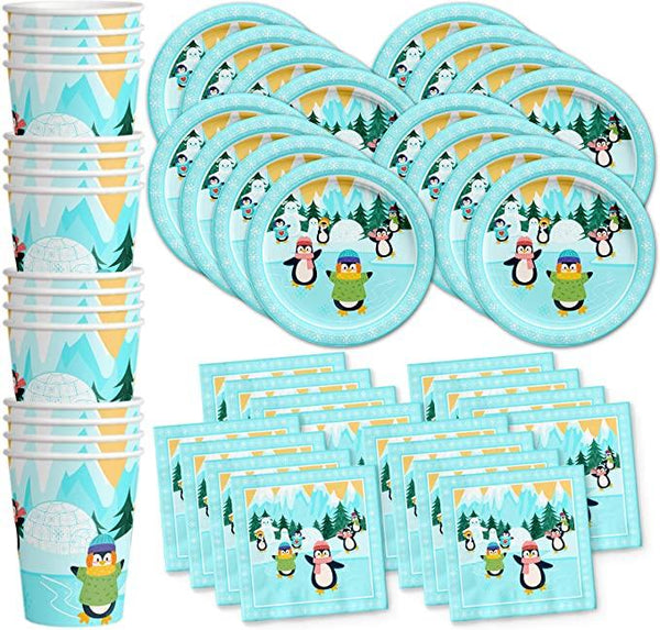 Penguin Theme Birthday Party Cutlery Package