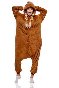 Onesie World Animal Pyjamas - Brown Poop Emoji Adult (Cosplay / Nightwear Halloween Carnival Novelty