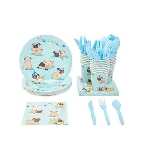 Pugs Theme Birthday Party Cutlery Package