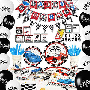 Racing Car Theme Birthday Party Supplies Premium Package