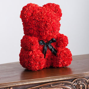 Gorgeous Red Rose Teddy Bear with Gift Box - 25cm
