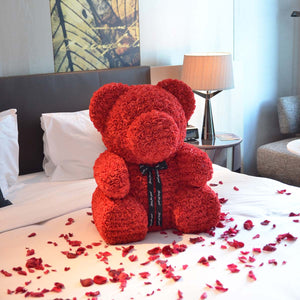 Giant Gorgeous Rose Teddy Bear with Gift Box - 70cm