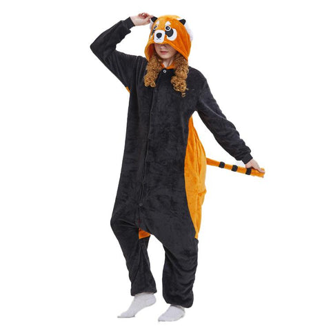 Onesie World Unisex Animal Pyjamas - Red Panda Adult (Cosplay / Nightwear Halloween Carnival Novelty