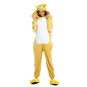 Onesie World Unisex Animal Pyjamas - Rilakkuma Bear Adult (Cosplay / Nightwear Halloween Carnival
