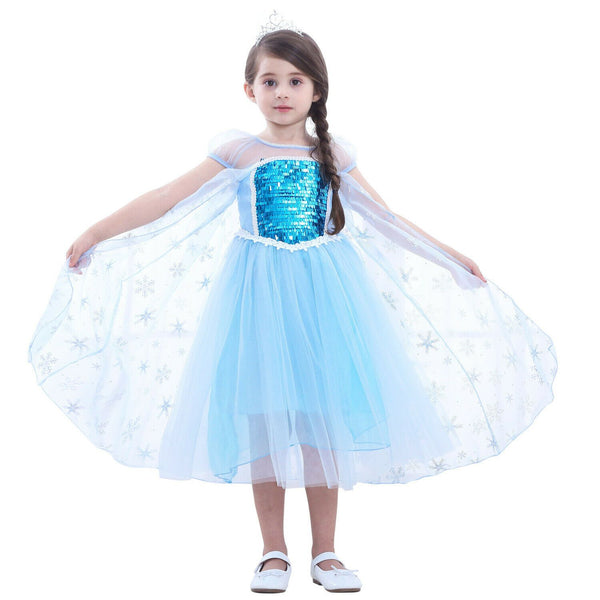 Blue Party Costume Princess Dress Onesies