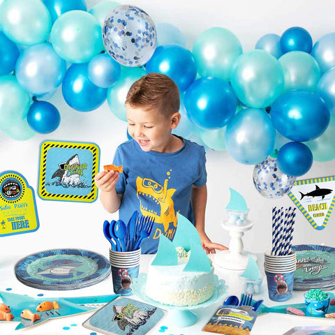 Shark Theme Birthday Party Supplies Premium Package (#Type B)