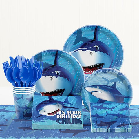 Shark Theme Birthday Party Tableware Package (#Type B)