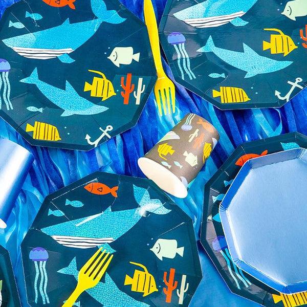 Shark Theme Birthday Party Cutlery Package (#Type A)