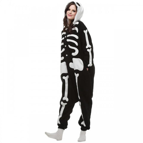 Onesie World Unisex Animal Pyjamas - Spooky Skeleton Adult (Cosplay / Nightwear Halloween Carnival