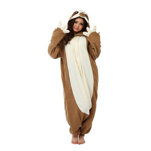 Onesie World Unisex Animal Pyjamas - Sloth Adult (Cosplay / Nightwear Halloween Carnival Novelty