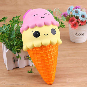 Mini Smiley Ice Cream Cone Squishy