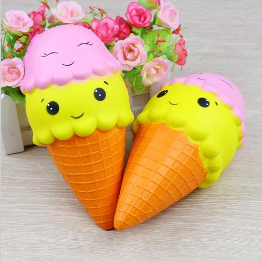 Jumbo Smiley Ice Cream Cone Squishy