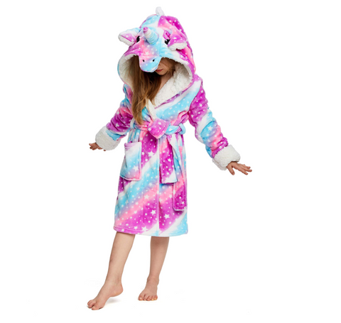 Onesie World Unisex Animal Pyjamas - Galaxy Starry Sky Unicorn Kids Bathrobe Pajama (Cosplay /