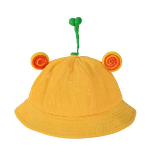 Cute Bean Sprout Bucket Hat With Little Ears Animal Hats
