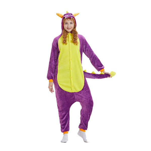 Onesie World Unisex Animal Pyjamas - Purple Spyro Dragon Adult (Cosplay / Nightwear Halloween