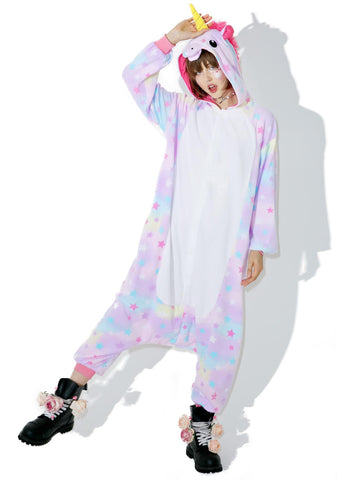 Onesie World Unisex Animal Pyjamas - Rainbow Star Unicorn Adult (Cosplay / Nightwear Halloween