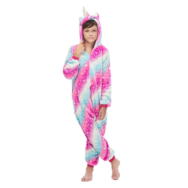 Onesie World Unisex Animal Pyjamas - Galaxy Starry Sky Unicorn Kids (Cosplay / Nightwear Halloween