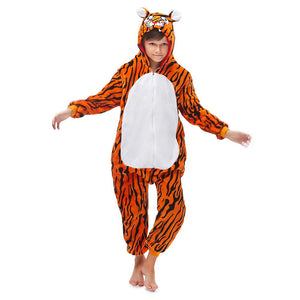 Onesie World Unisex Animal Pyjamas - Tiger Kids (Cosplay / Nightwear Halloween Carnival Novelty