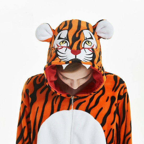 Onesie World Unisex Animal Pyjamas - Tiger Adult (Cosplay / Nightwear Halloween Carnival Novelty
