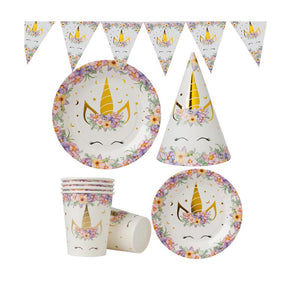 Unicorn Theme Birthday Party Cutlery Package (#Type B)