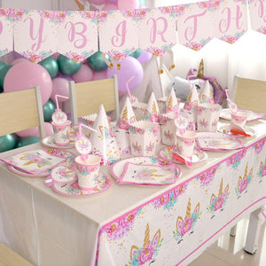 Unicorn Theme Birthday Party Supplies MEGA Package (#Type A)