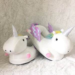 Winged Unicorn Slippers White - Size M Slippers