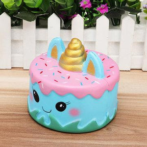 Blue Unicorn Cake Squishy Squishies