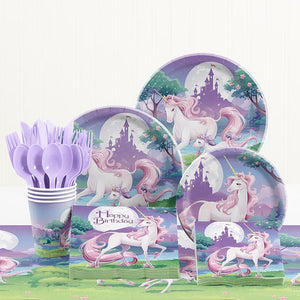 Unicorn Theme Birthday Party Tableware Package (#Type C)