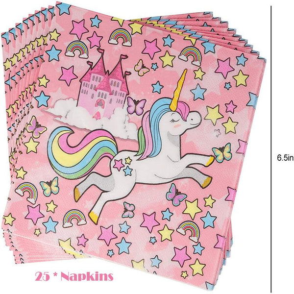 Unicorn Theme Birthday Party Tableware Package (#Type A)