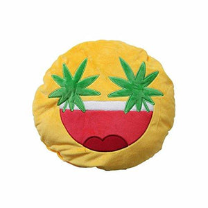 Emoji Weed Eyes Pillow Pillow