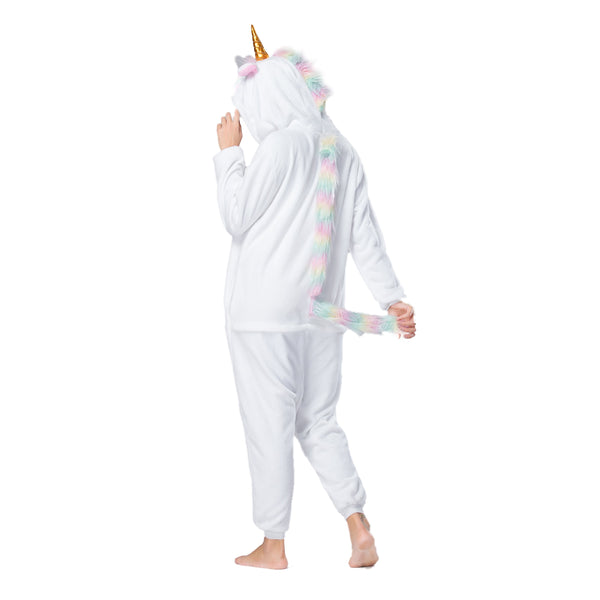 Onesie World Unisex Animal Pyjamas - White Unicorn Adult (Cosplay / Nightwear Halloween Carnival