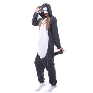 Onesie World Unisex Animal Pyjamas - Grey Wolf Adult (Cosplay / Nightwear Halloween Carnival Novelty