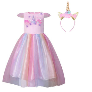 Pink Costume Unicorn Princess Costume Set
