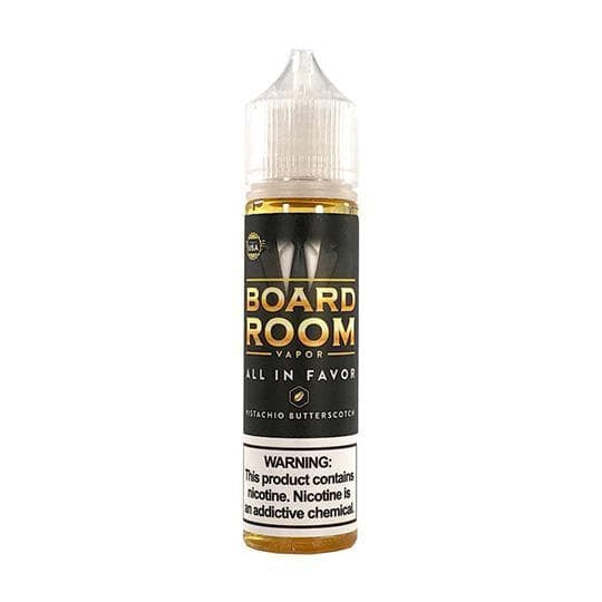 All In Favor (Pistachio Butterscotch) - Boardroom - Mr. Vape USA Retail