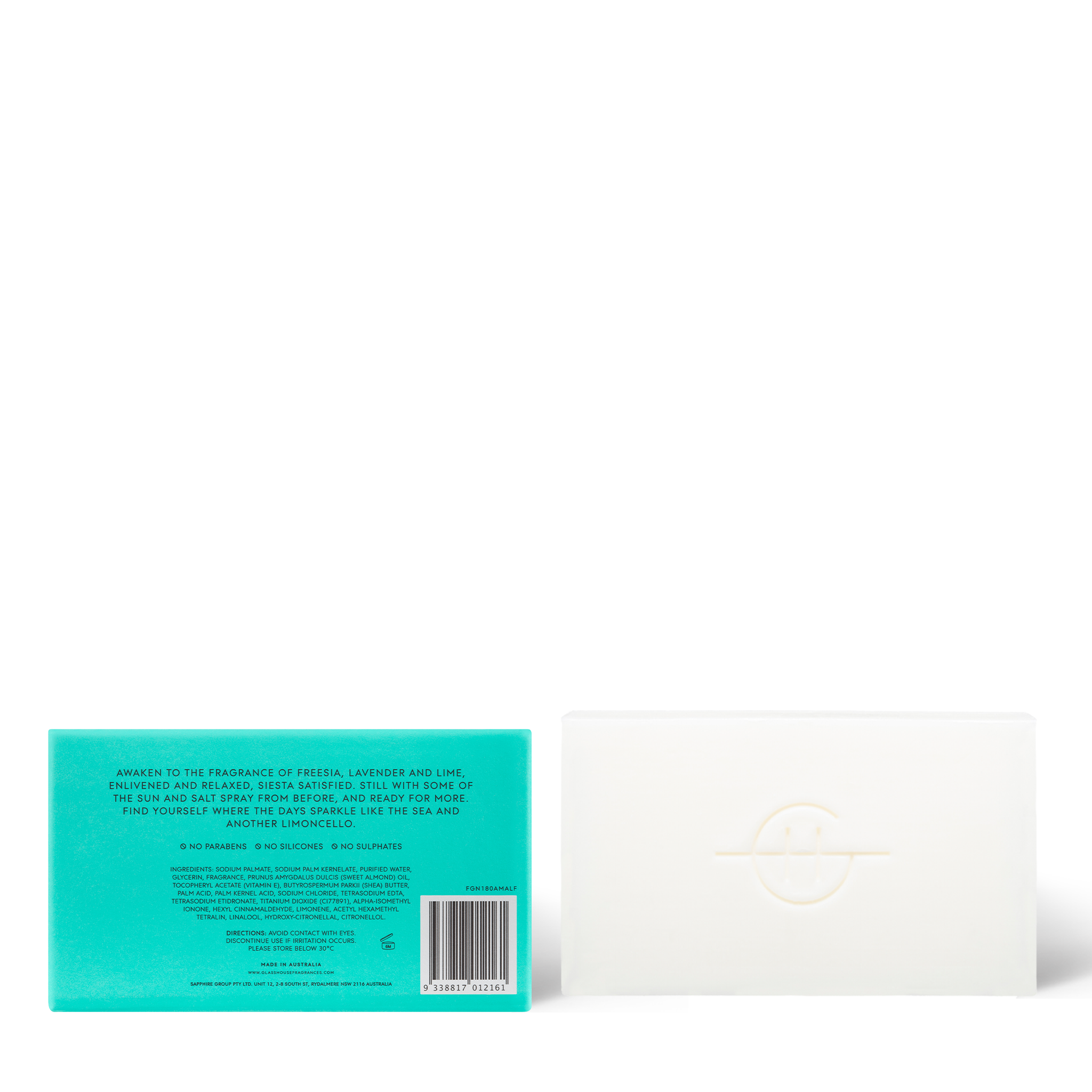 Lost In Amalfi 180g Body Bar - Glasshouse Fragrances