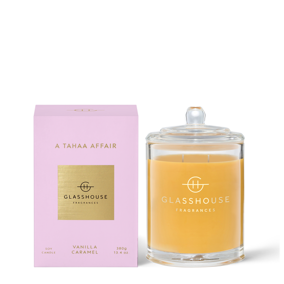 A Tahaa Affair 380g Soy Candle - Glasshouse Fragrances