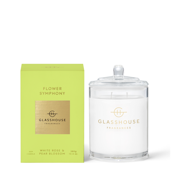 Flower Symphony 380g Soy Candle - Glasshouse Fragrances