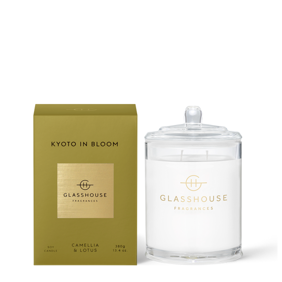 Kyoto In Bloom 380g Soy Candle - Glasshouse Fragrances