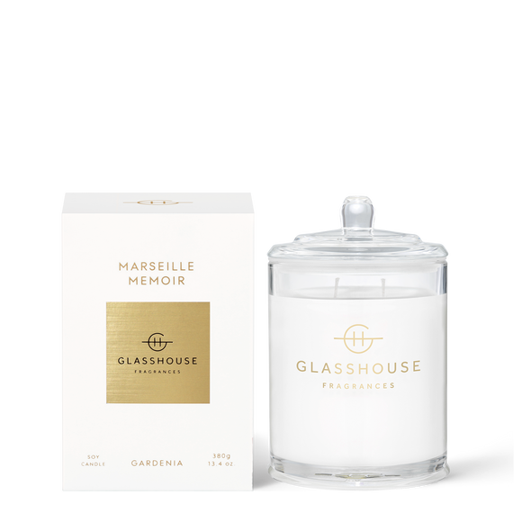 Marseille Memoir 380g Soy Candle - Glasshouse Fragrances