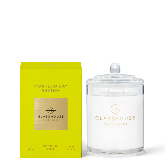Montego Bay Rhythm 380g Soy Candle - Glasshouse Fragrances