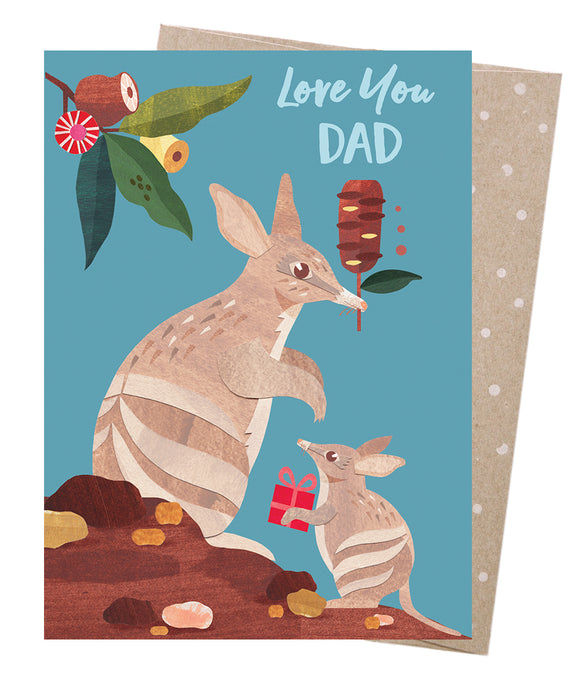 Bandicoot Dad Card - Earth Greetings