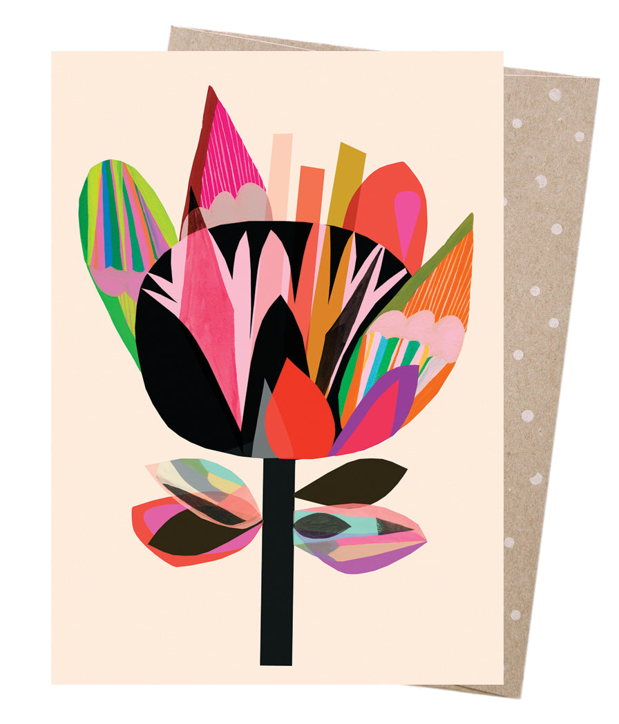 Midnight Flora Greeting Card - Earth Greetings