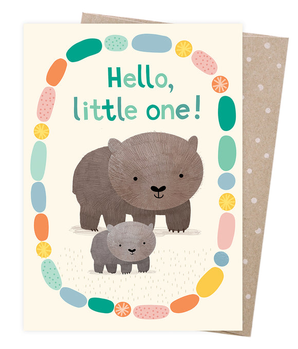 Welcome Baby Wombat Greeting Card - Earth Greetings