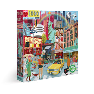 New York City Life 1000 Piece Puzzle - eeBoo
