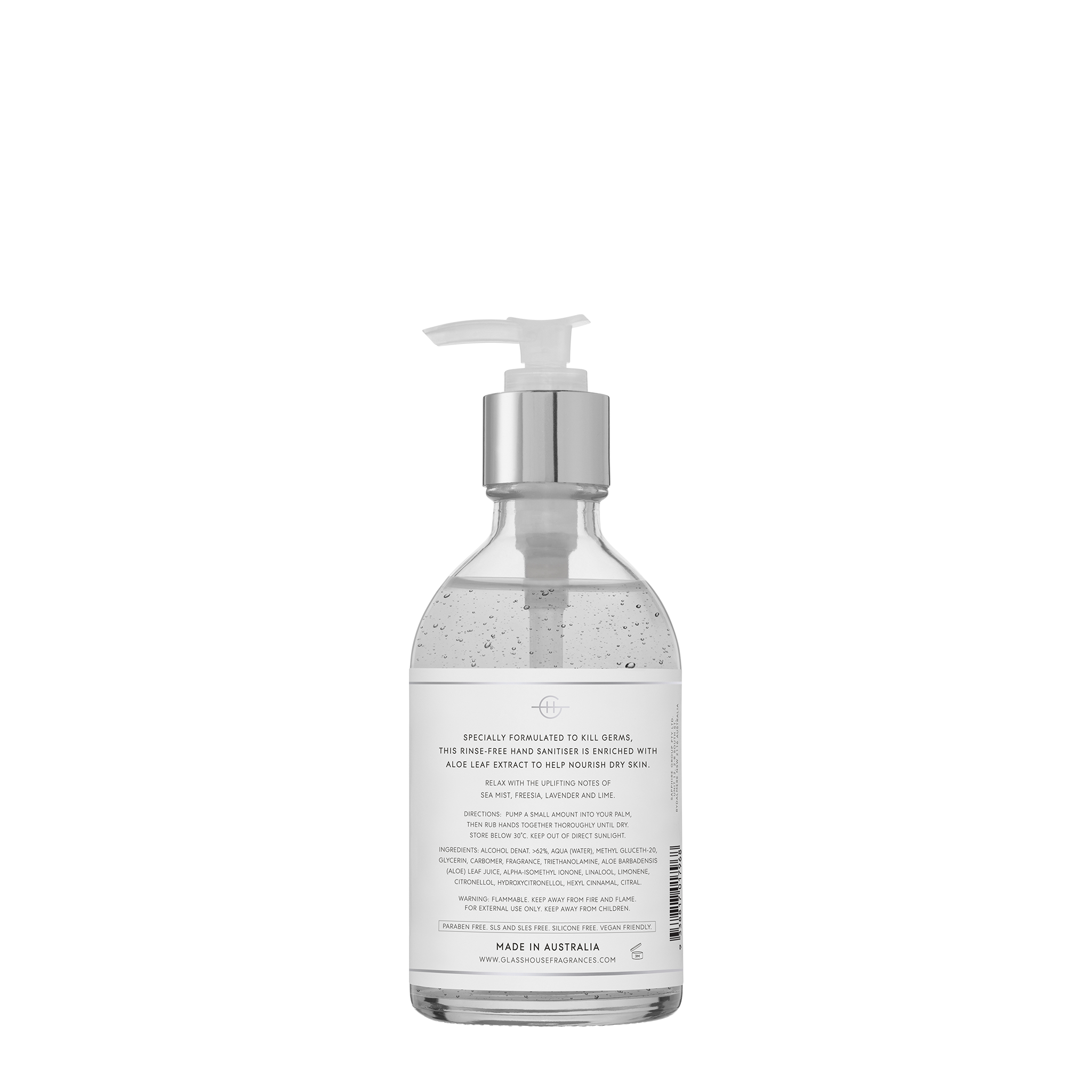 Lost In Amalfi Hand Sanitiser - Glasshouse Fragrances