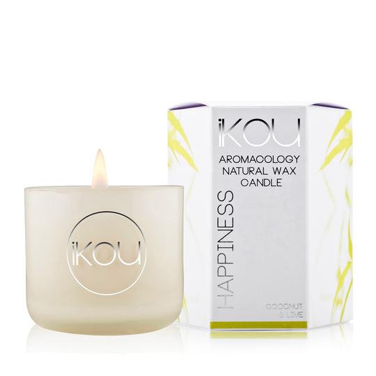 Happiness Small Glass Candle Ikou
