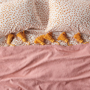 Speckle Caramel Cotton Flat Sheet - Kip&Co