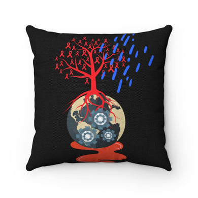 Mechanical Planet Spun Polyester Square Pillow