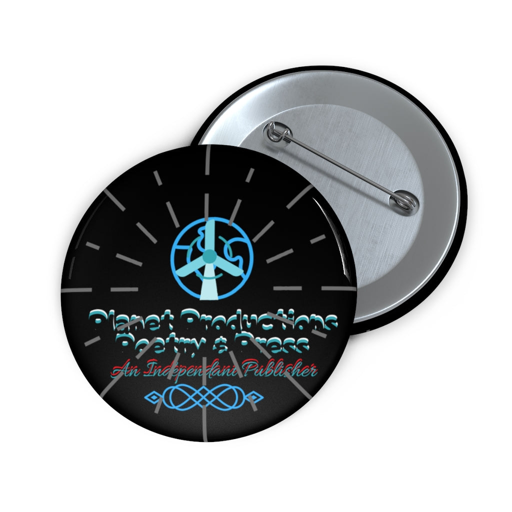 Planet Productions Poetry Burst Logo Custom Pin Buttons
